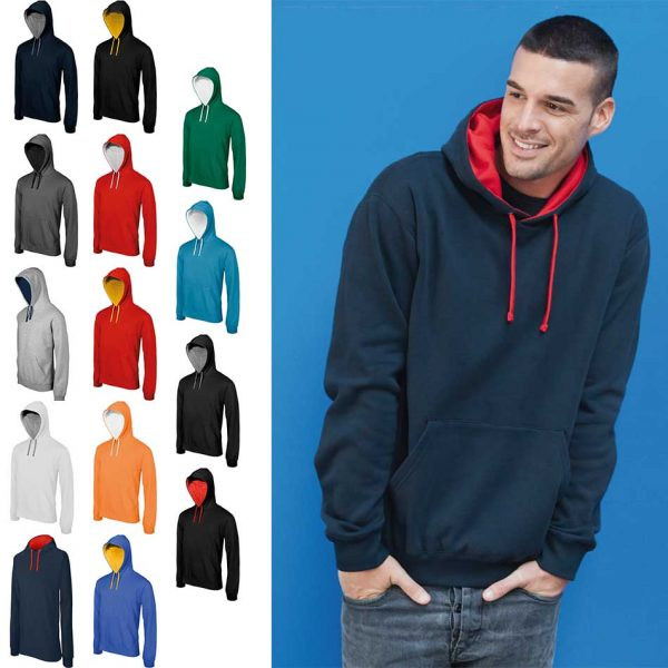 K446 – Contrast Hooded Sweatshirt KARIBAN