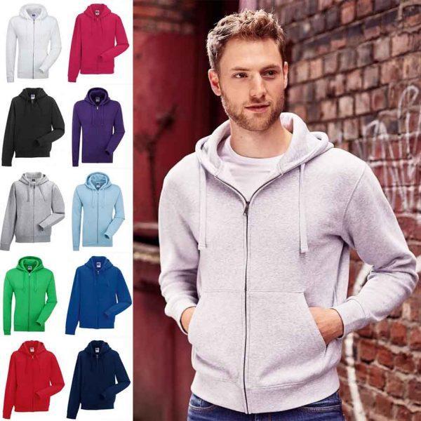 R 266M Men's Authentic Zipped Hood