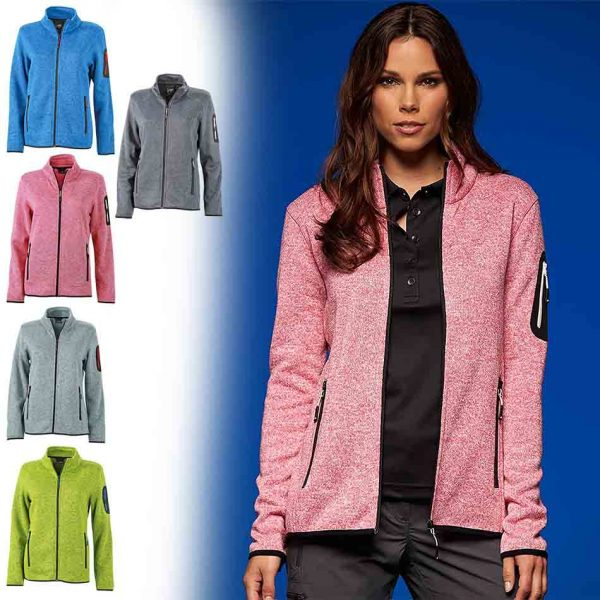 JN 761 Ladies' Knitted Fleece Jacket